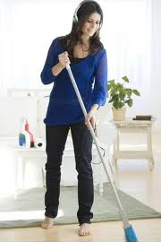 Lose weight by sweeping floor