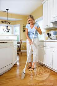 Lose weight by sweeping the floor