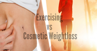 exercising and cosmetic weight loss