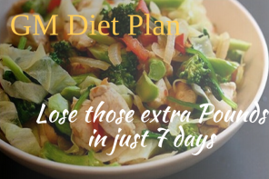 GM Diet Plan! General Motors A Perfect Weekly Diet Plan